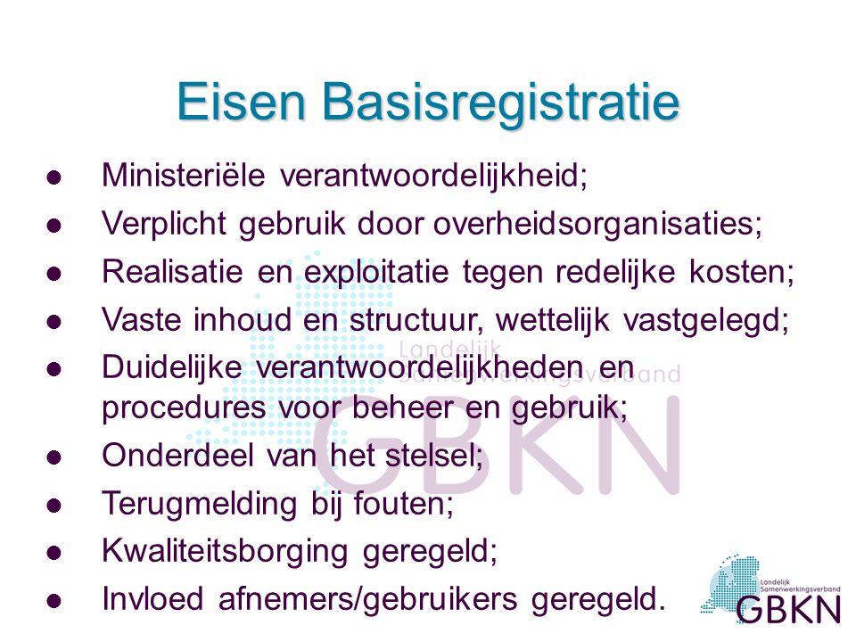 Eisen Basisregistratie