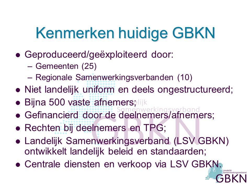 Kenmerken huidige GBKN