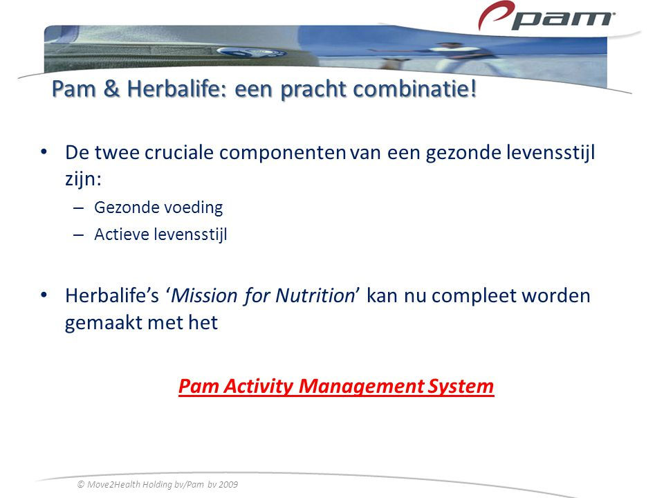 Pam & Herbalife: een pracht combinatie!
