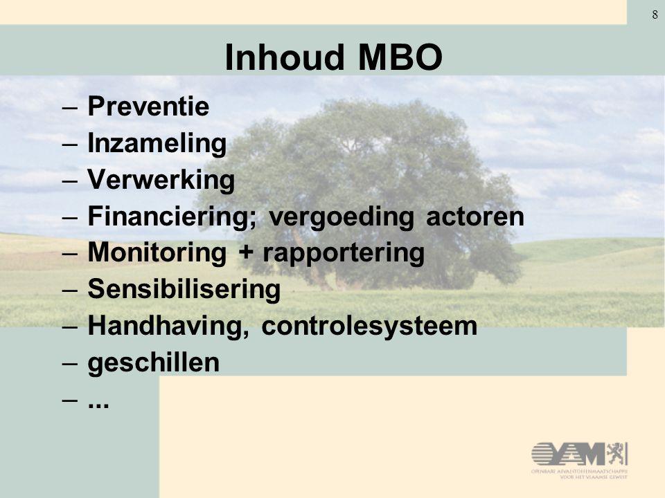 Inhoud MBO Preventie Inzameling Verwerking