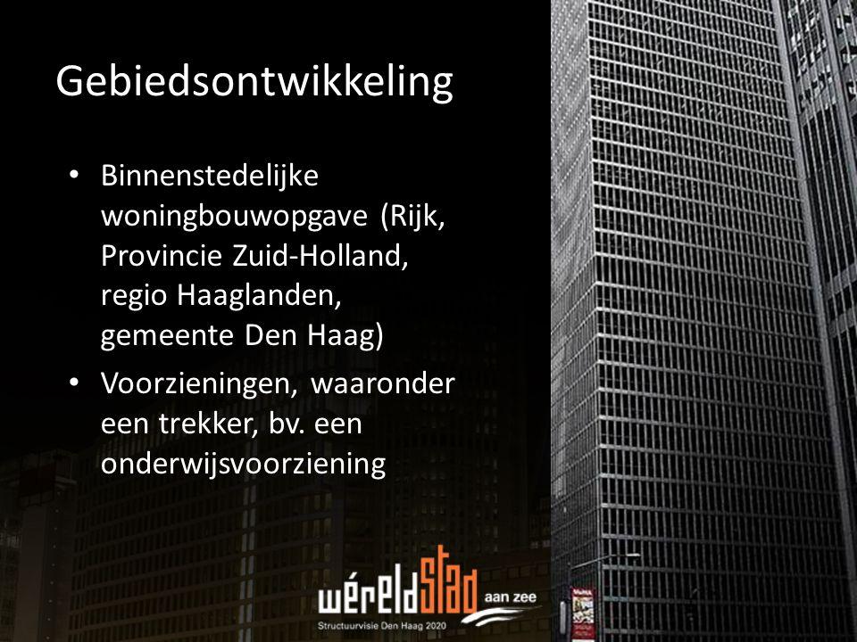 Gebiedsontwikkeling Binnenstedelijke woningbouwopgave (Rijk, Provincie Zuid-Holland, regio Haaglanden, gemeente Den Haag)