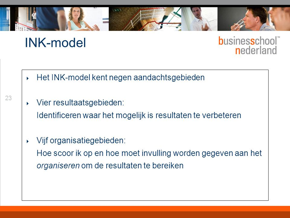 INK-model Personeels- management Beleid & Strategie Middelen