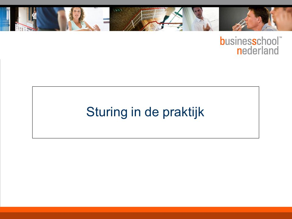 Sturing op operationalisering van strategie