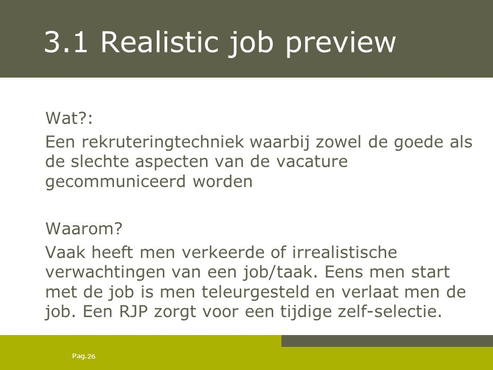 3.1 Realistic job preview Wat :