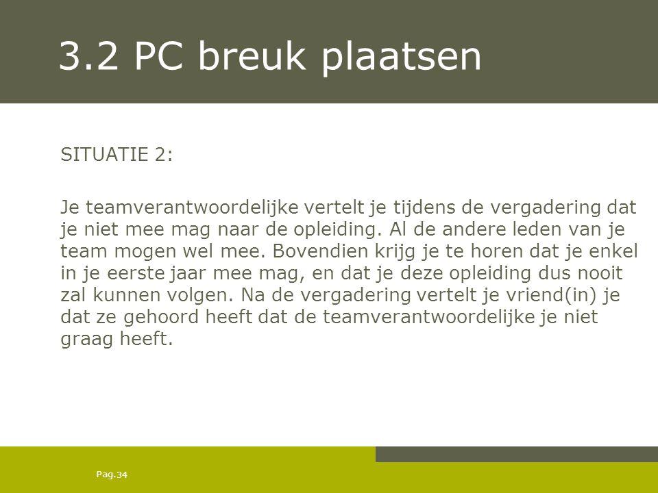 3.2 PC breuk plaatsen SITUATIE 2: