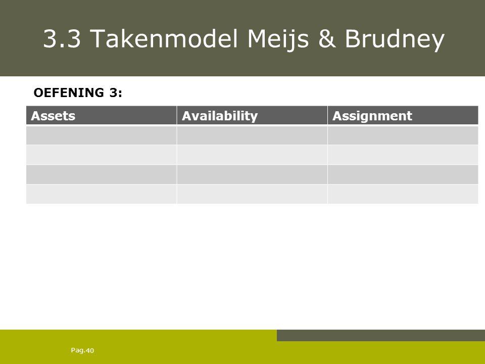 3.3 Takenmodel Meijs & Brudney