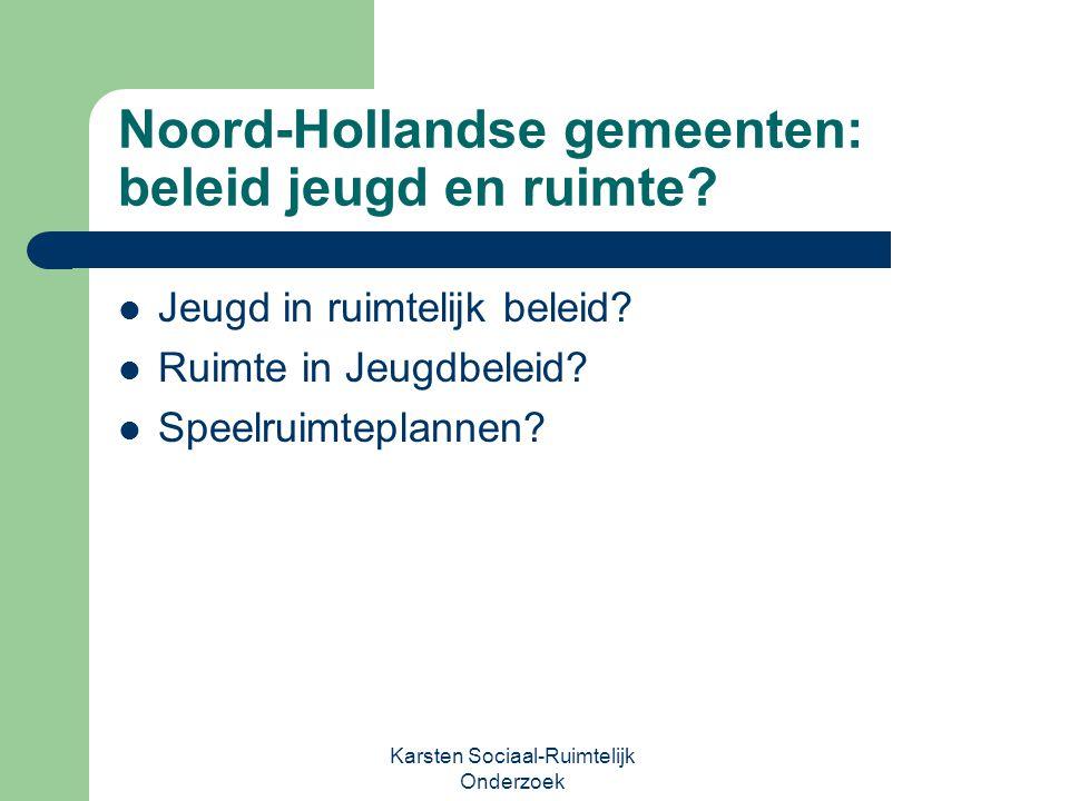 Noord-Hollandse gemeenten: beleid jeugd en ruimte