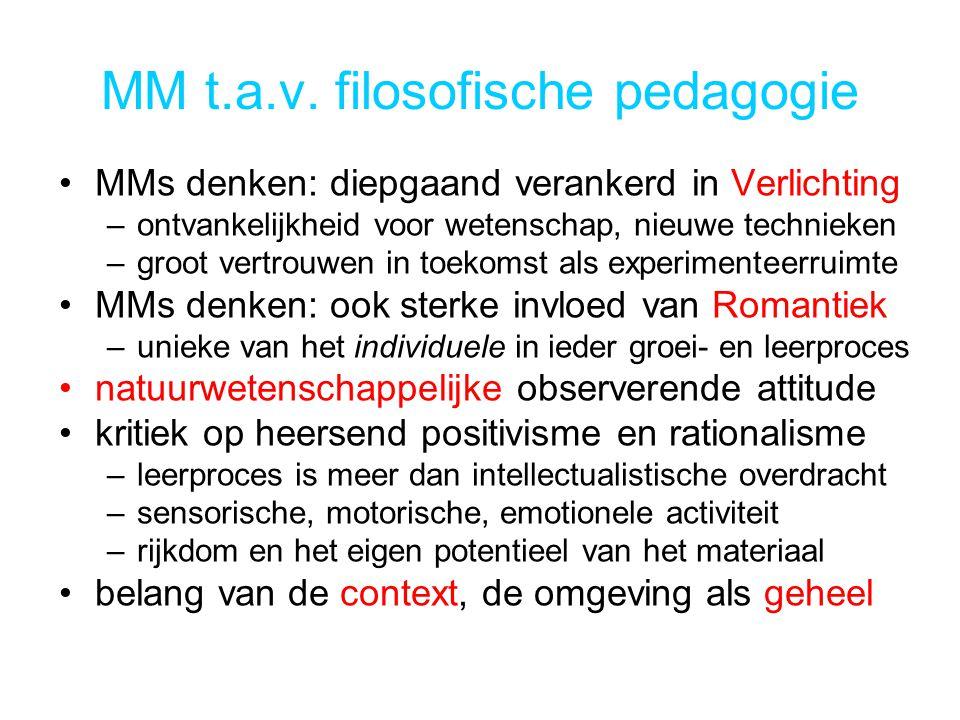 MM t.a.v. filosofische pedagogie