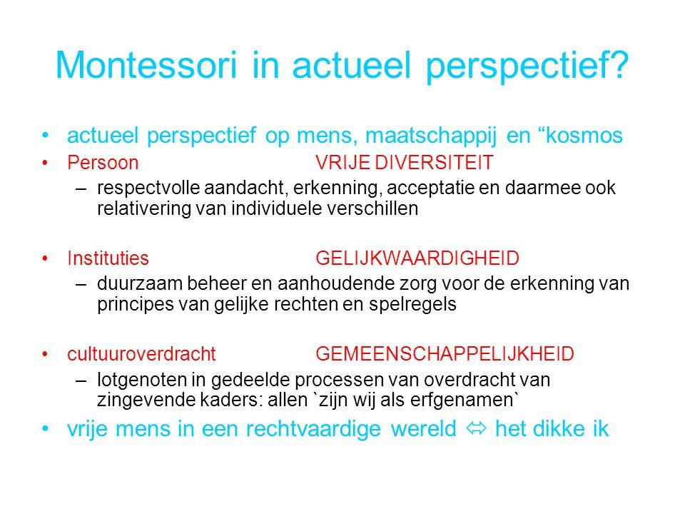 Montessori in actueel perspectief