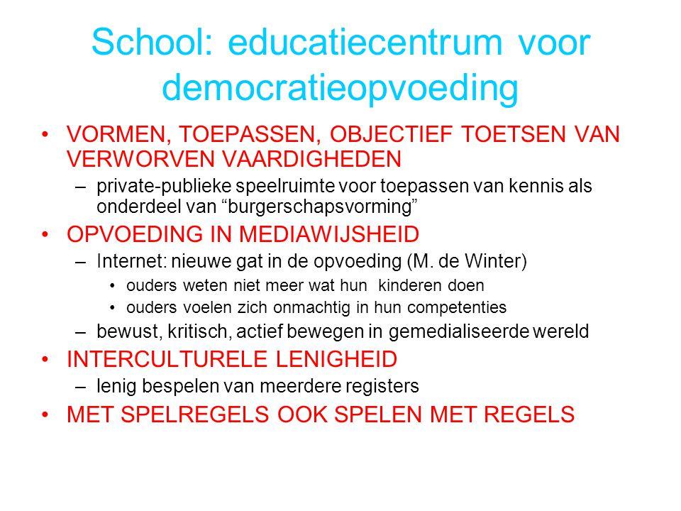School: educatiecentrum voor democratieopvoeding