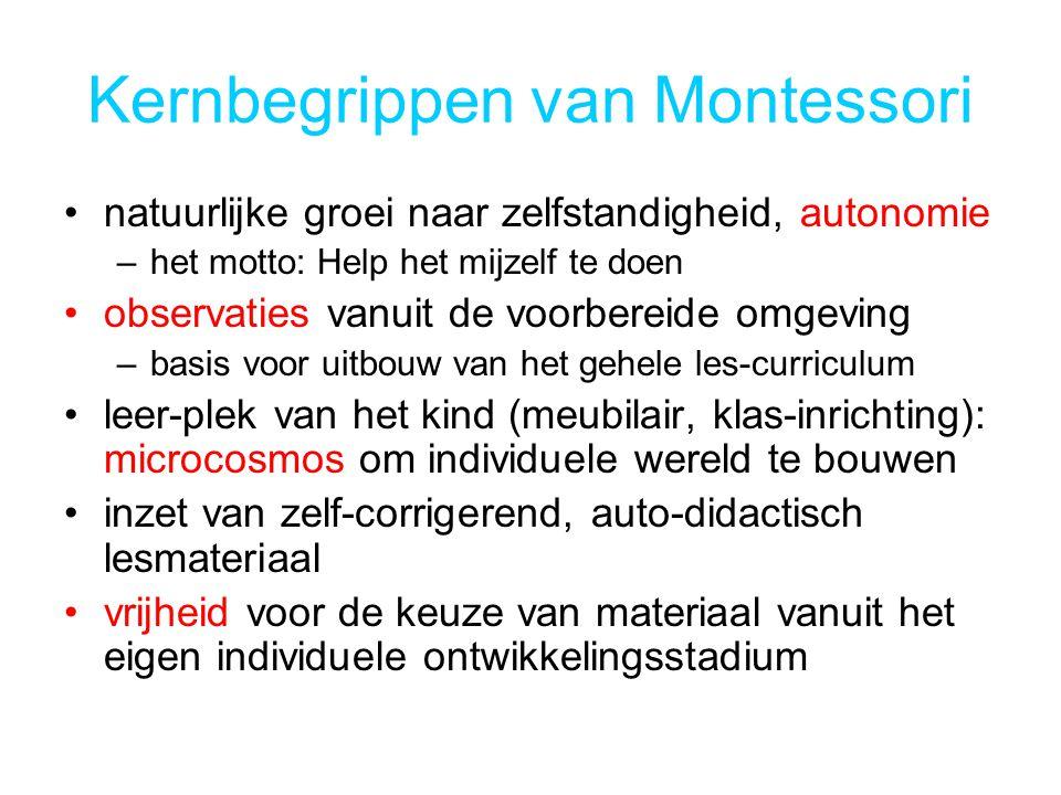 Kernbegrippen van Montessori