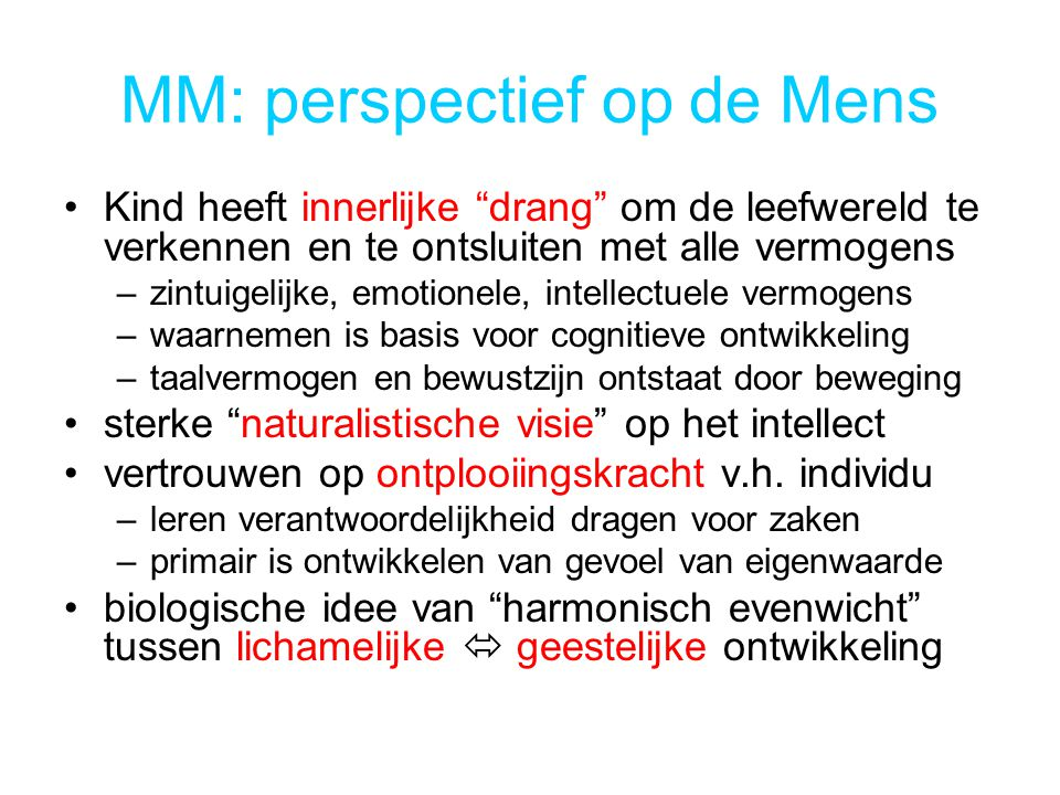 MM: perspectief op de Mens