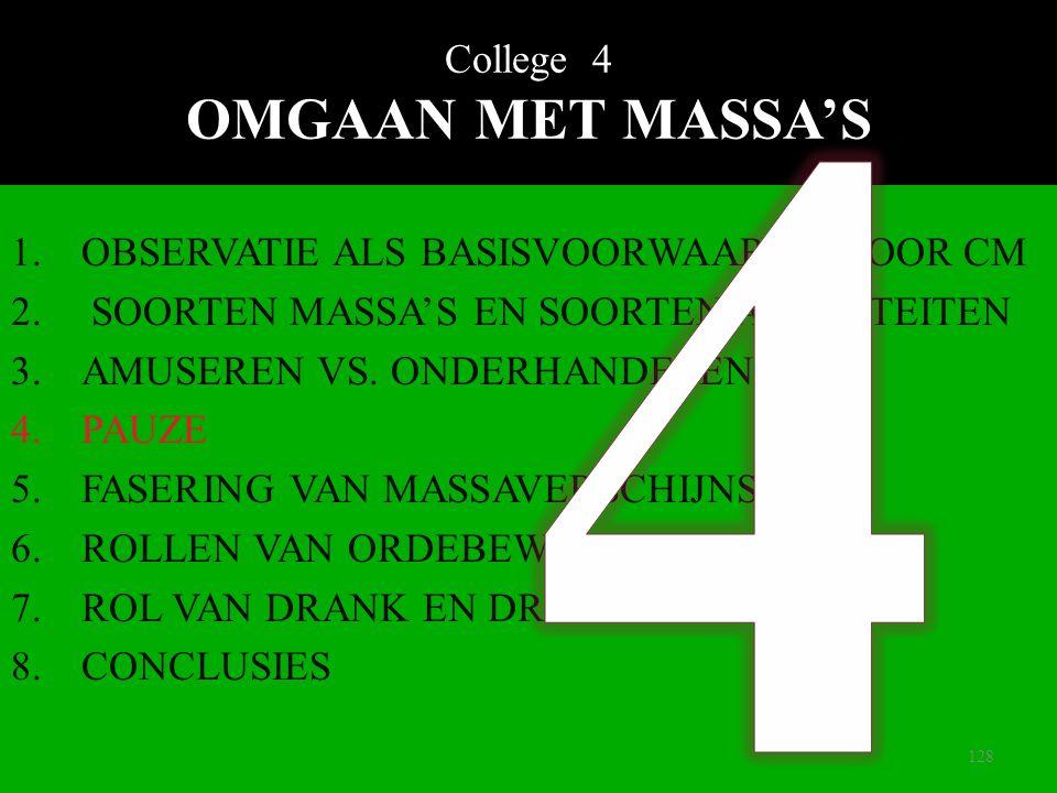 College 4 OMGAAN MET MASSA'S