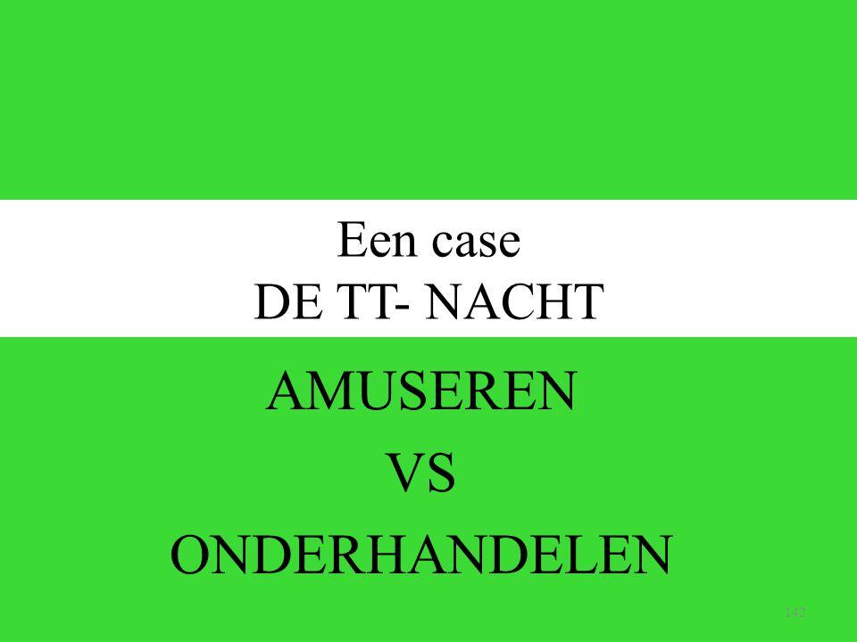 AMUSEREN VS ONDERHANDELEN