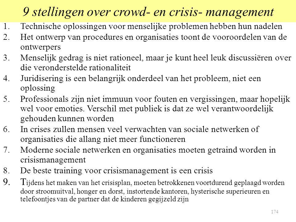 9 stellingen over crowd- en crisis- management