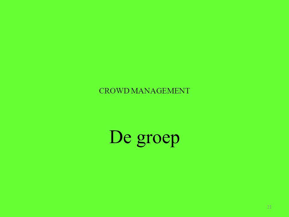 CROWD MANAGEMENT De groep 21