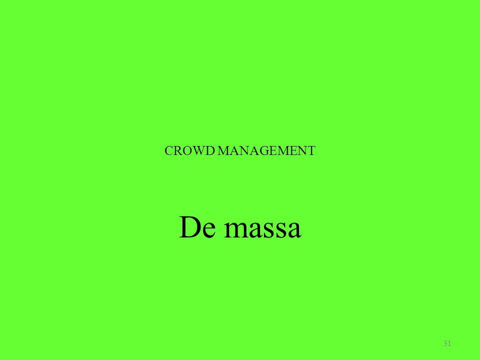 CROWD MANAGEMENT De massa 31