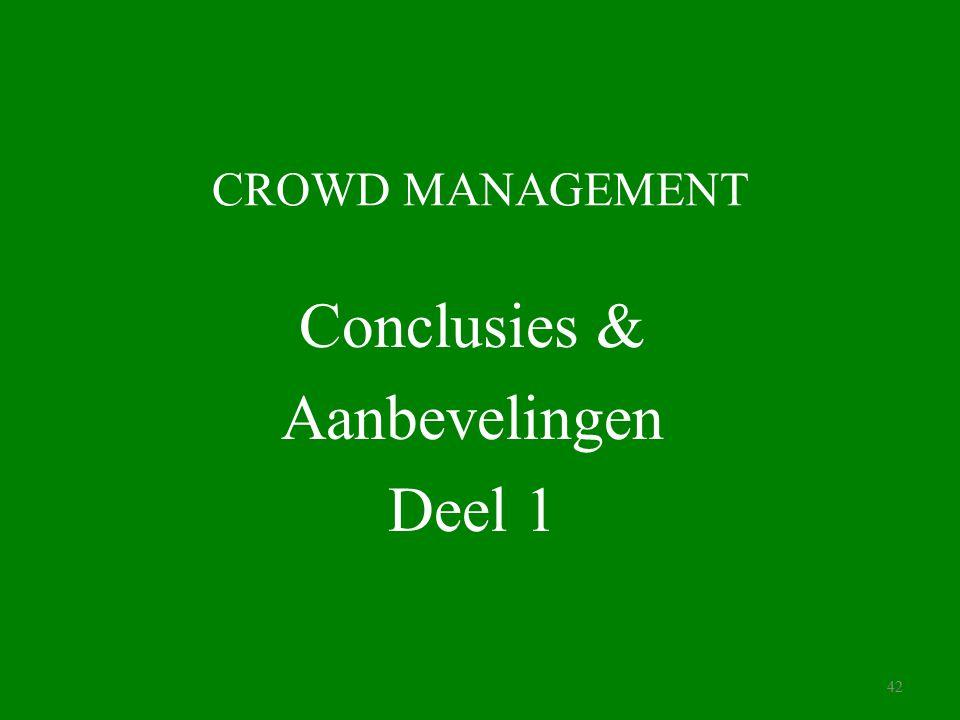Conclusies & Aanbevelingen Deel 1