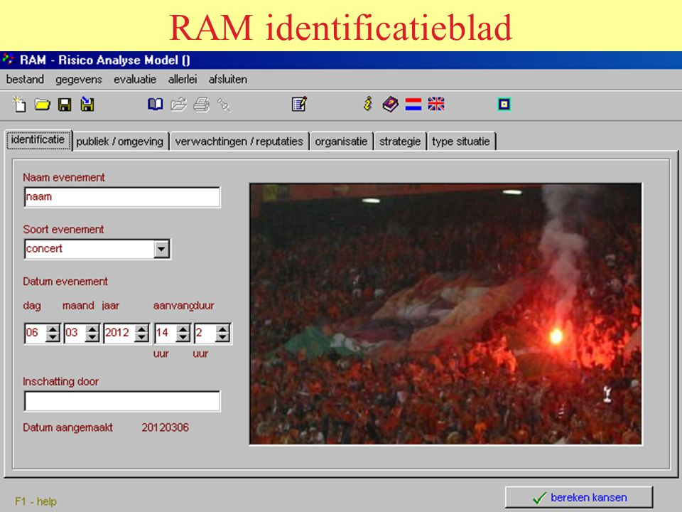 RAM identificatieblad