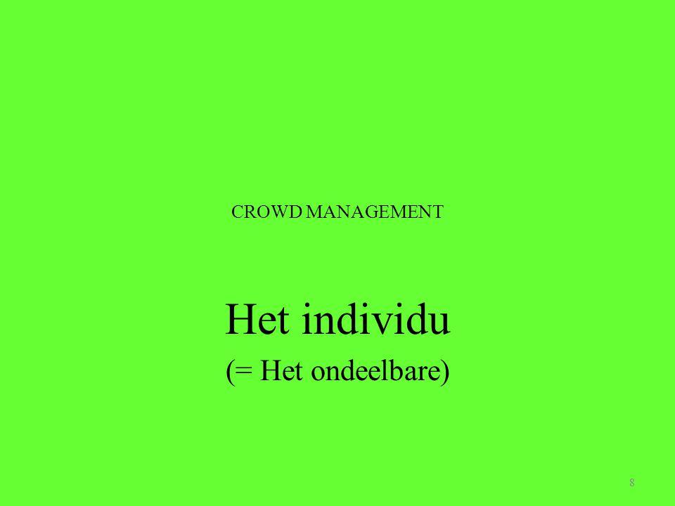 Het individu (= Het ondeelbare)