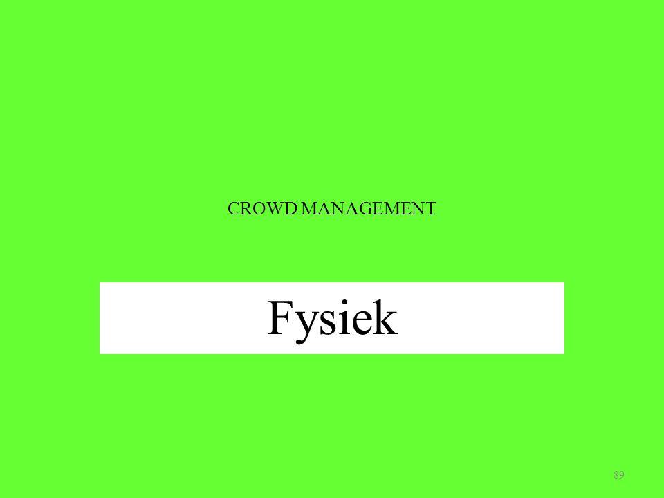 CROWD MANAGEMENT Fysiek 89