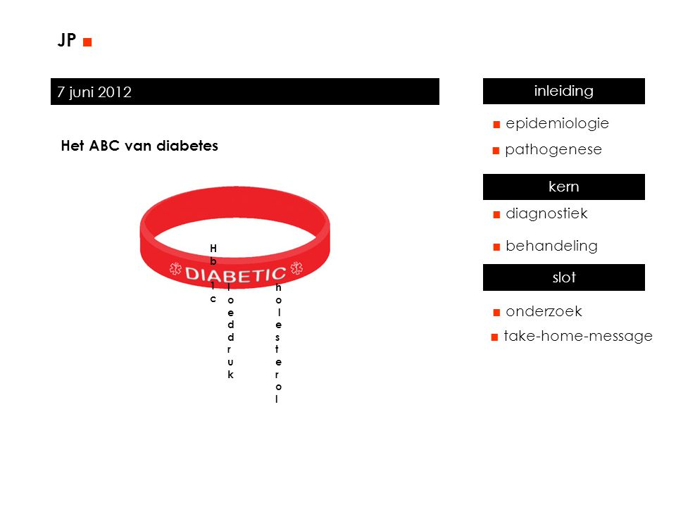JP ■ 7 juni 2012 inleiding ■ epidemiologie Het ABC van diabetes