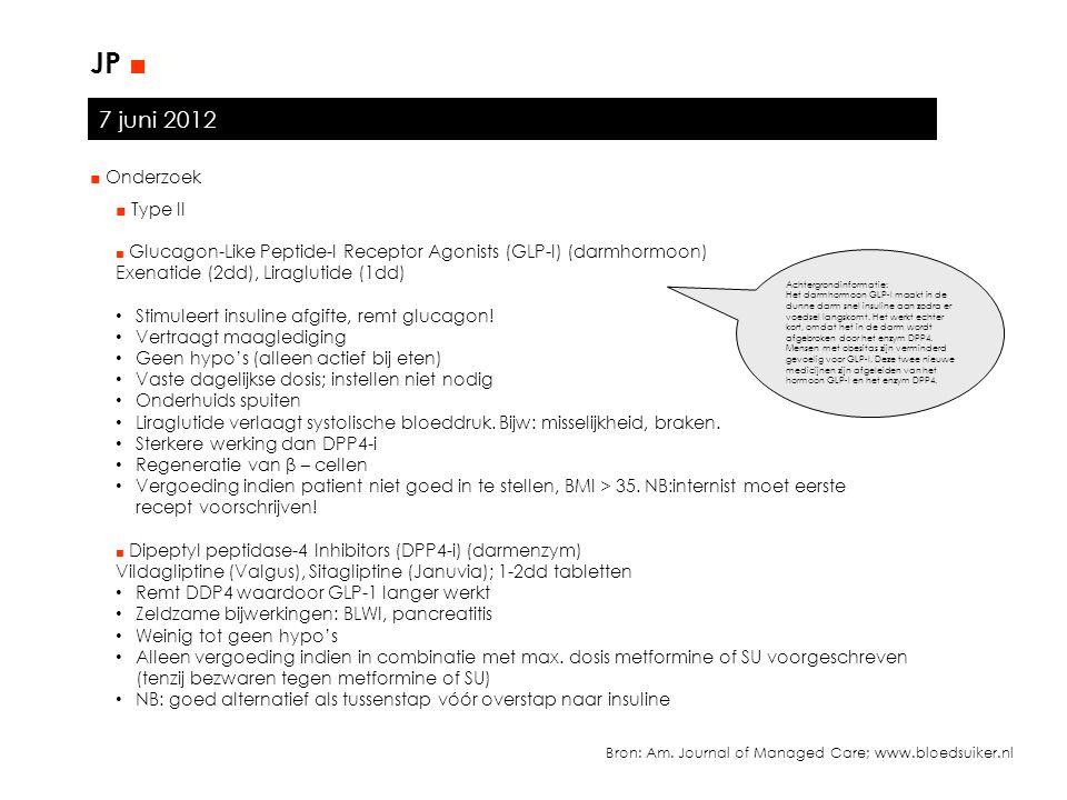 JP ■ 7 juni 2012 ■ Onderzoek ■ Type II