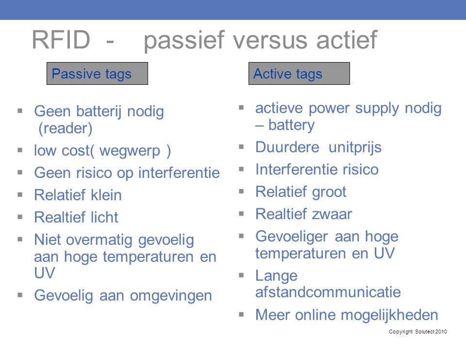 RFID - passief versus actief