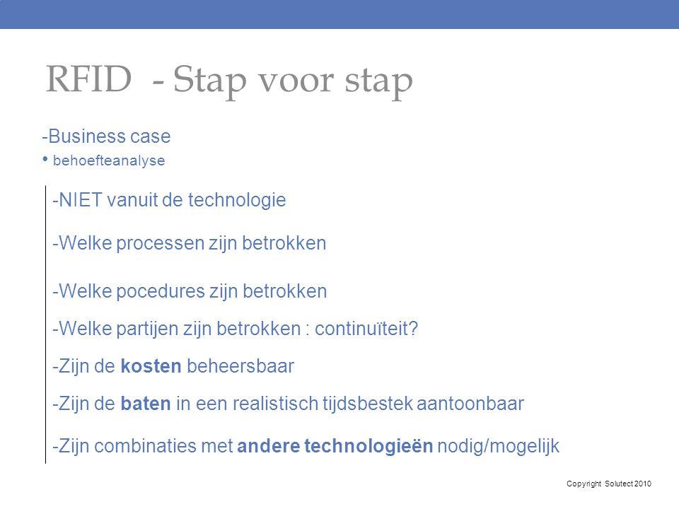 RFID - Stap voor stap Business case behoefteanalyse