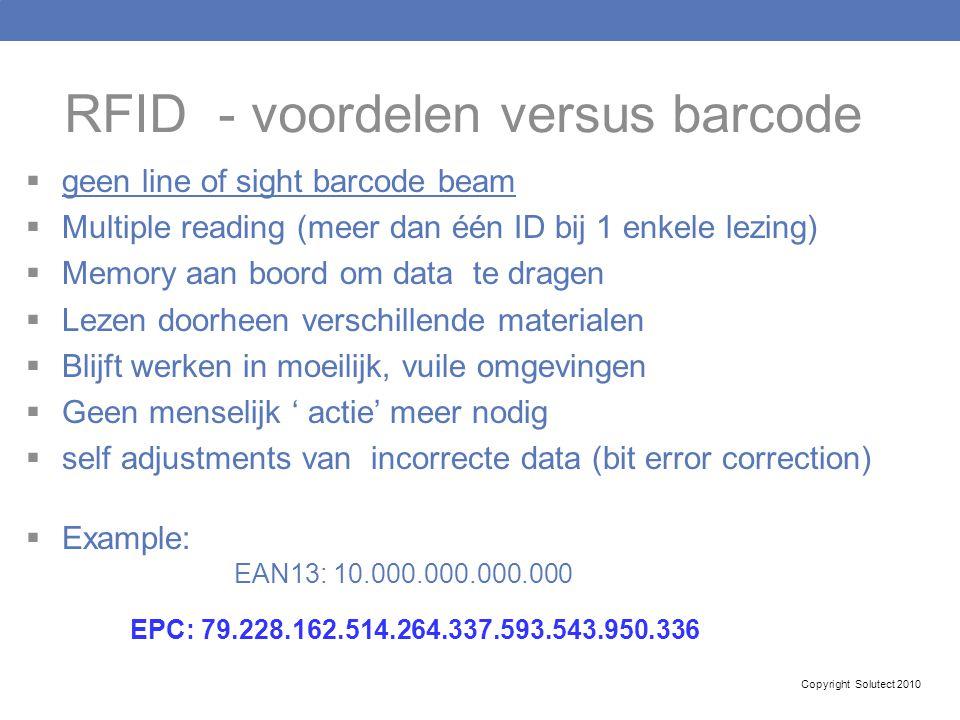 RFID - voordelen versus barcode