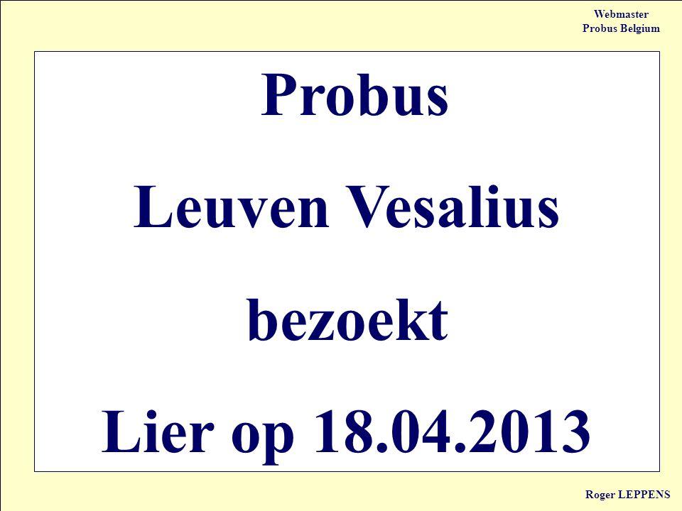 Probus Leuven Vesalius bezoekt Lier op 18.04.2013
