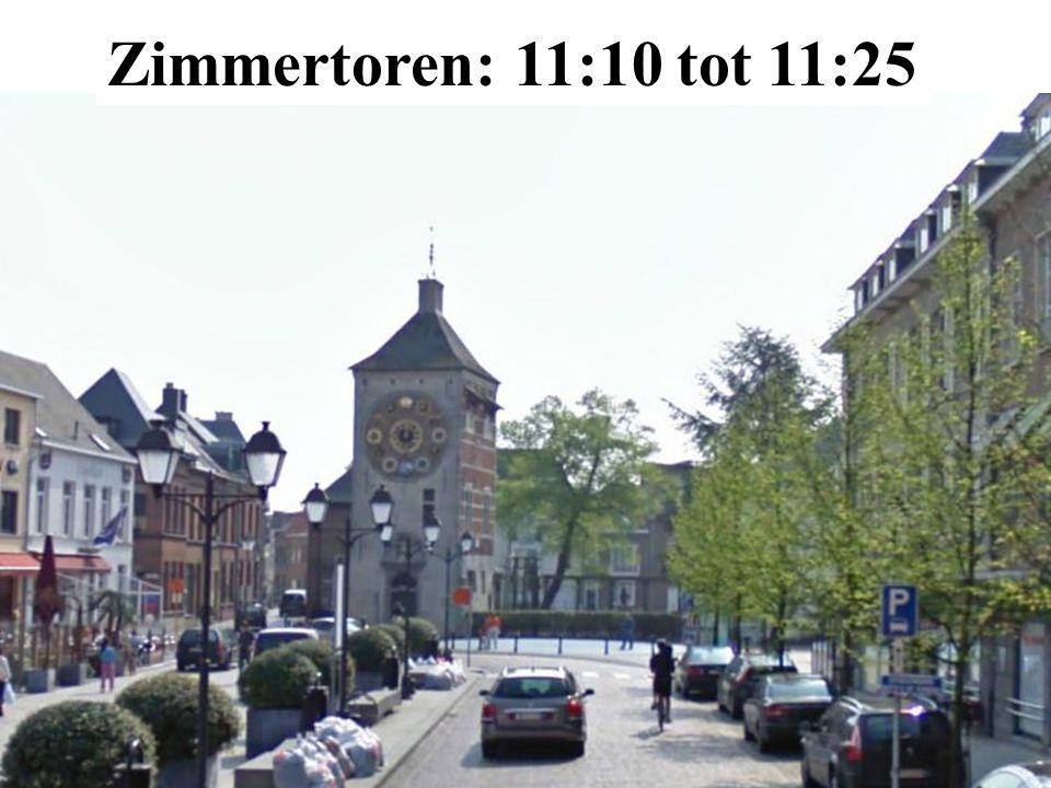 Zimmertoren: 11:10 tot 11:25