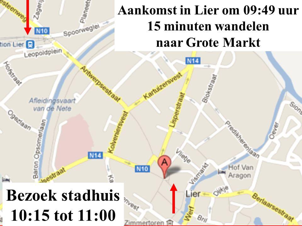 Aankomst in Lier om 09:49 uur