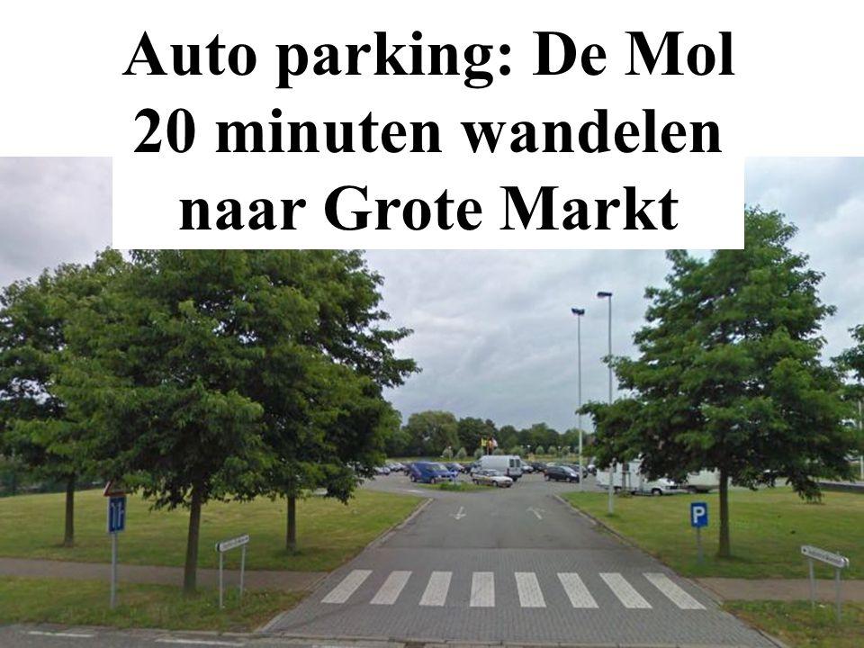 Auto parking: De Mol 20 minuten wandelen naar Grote Markt