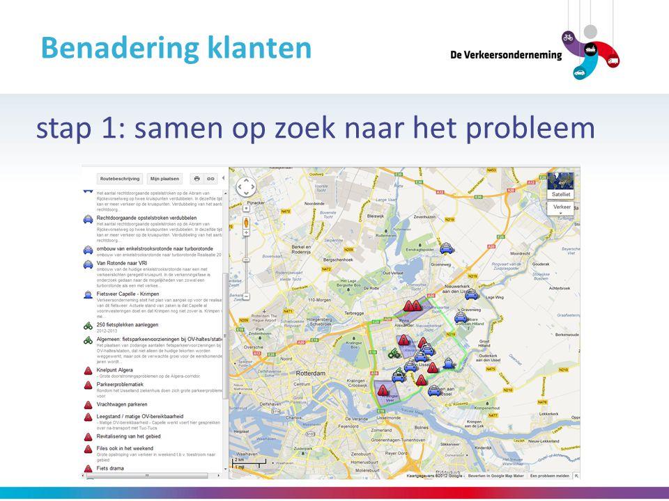 Benadering klanten stap 1: samen op zoek naar het probleem