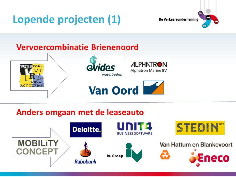 Lopende projecten (1) Vervoercombinatie Brienenoord