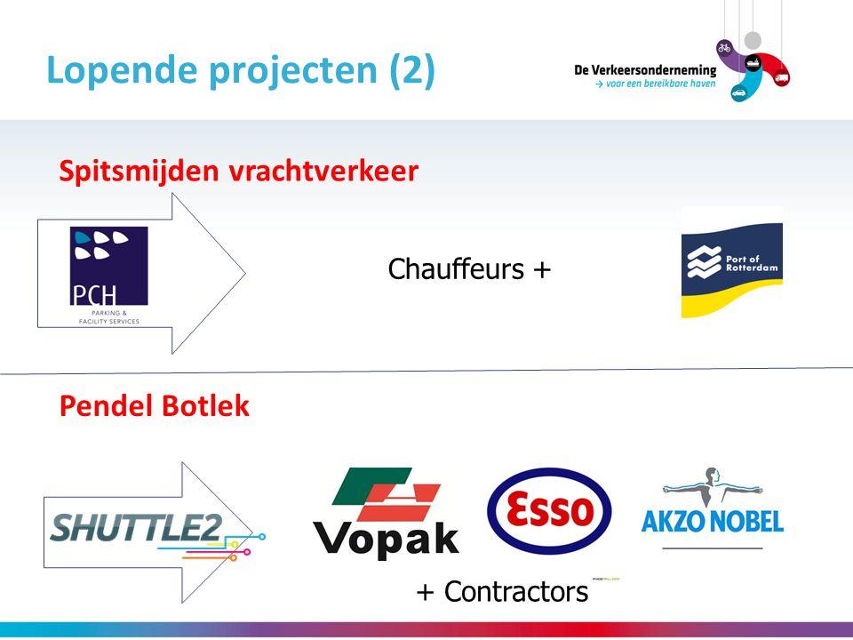 Lopende projecten (2) Spitsmijden vrachtverkeer Pendel Botlek