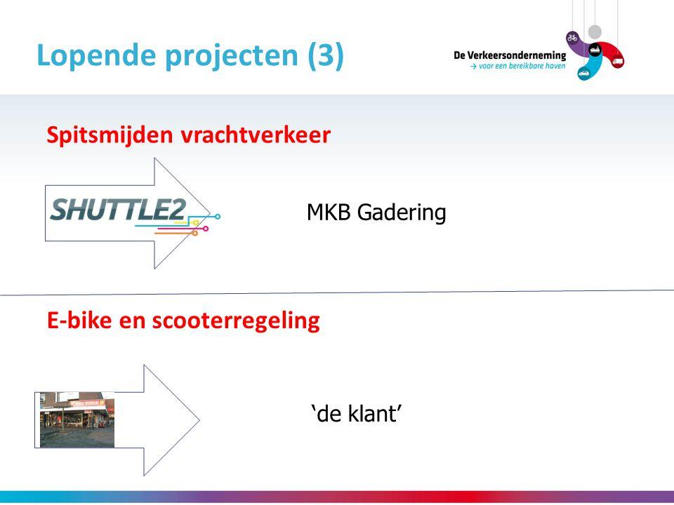 Lopende projecten (3) Spitsmijden vrachtverkeer