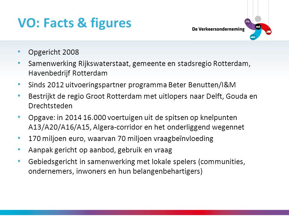 VO: Facts & figures Opgericht 2008
