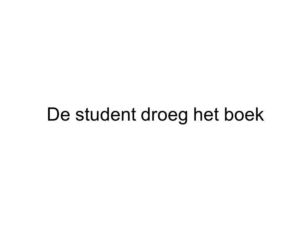 De student droeg het boek