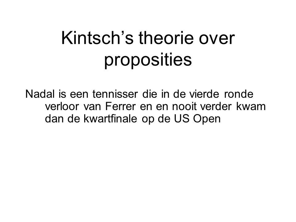 Kintsch's theorie over proposities