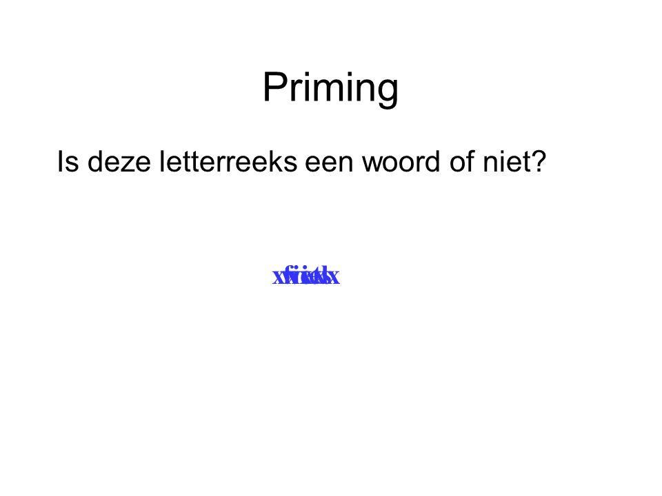 Priming Is deze letterreeks een woord of niet xxxxx wiel fiets