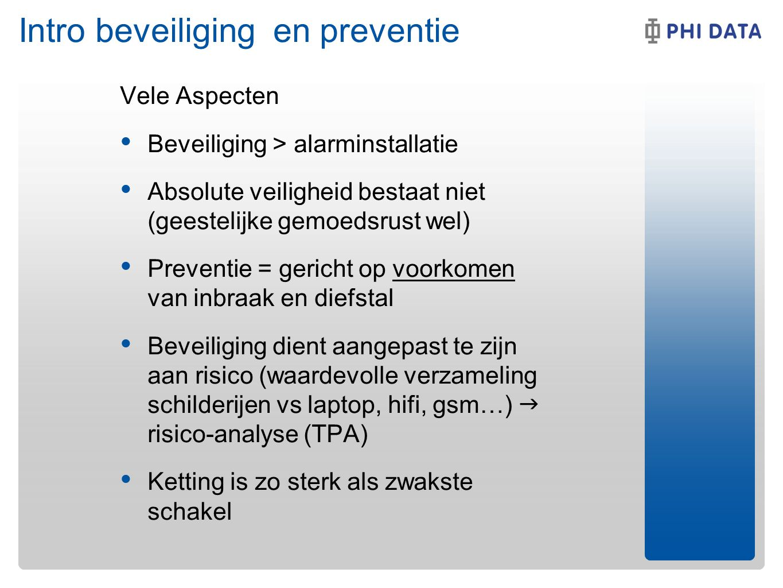 Intro beveiliging en preventie