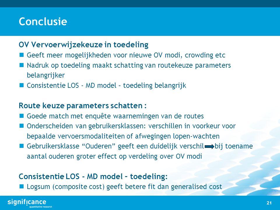 Conclusie OV Vervoerwijzekeuze in toedeling
