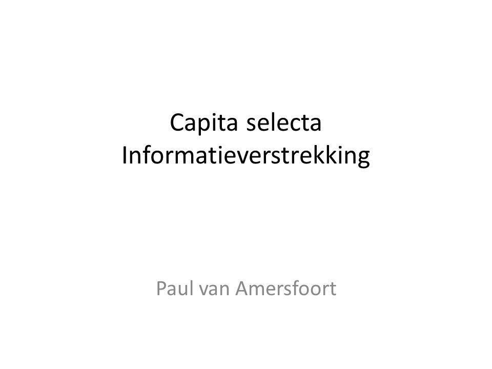 Capita selecta Informatieverstrekking