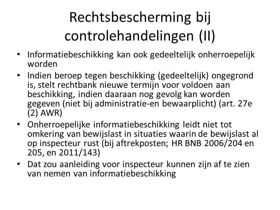Rechtsbescherming bij controlehandelingen (II)