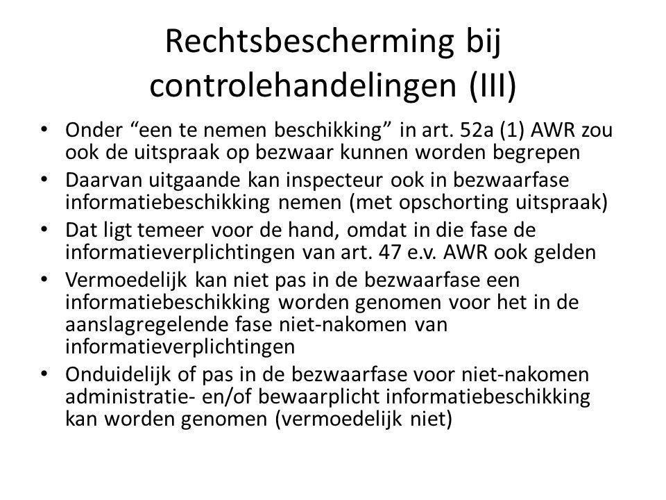 Rechtsbescherming bij controlehandelingen (III)
