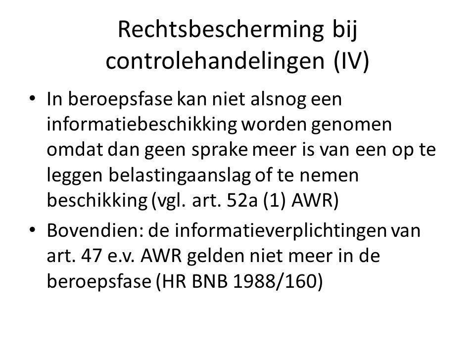 Rechtsbescherming bij controlehandelingen (IV)