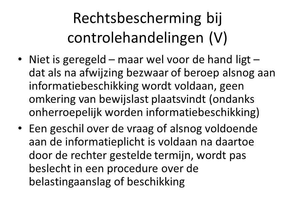 Rechtsbescherming bij controlehandelingen (V)