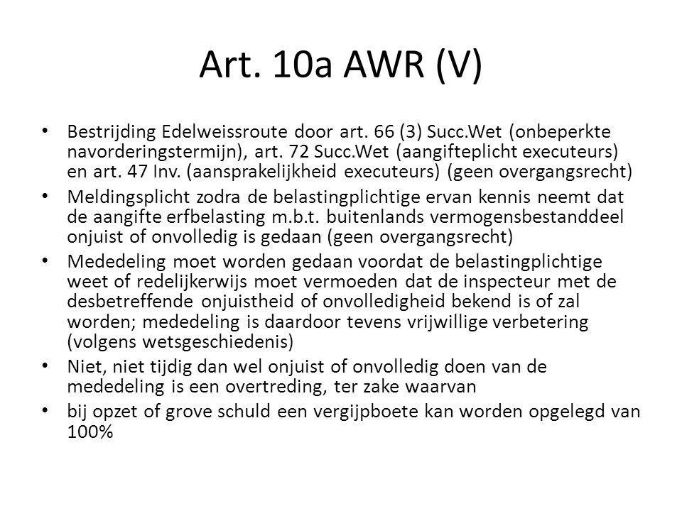 Art. 10a AWR (V)